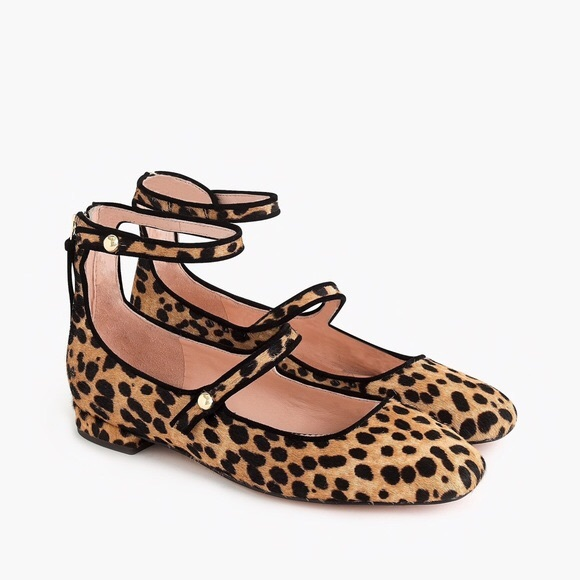 J. Crew Shoes - J. CREW Poppy Ballet Flats Leopard Calf Hair